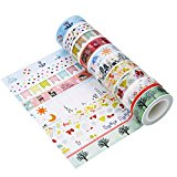 Outus Washi Tape Klebeband Rollband Dekoband Masking Tape Set Dekoration und DIY Handwerk, 10 Stück