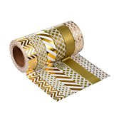 Mudder Washi Tape Masking tape Dekoband, 6er Pack (Farben-Set 4)