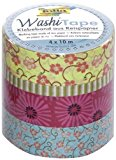 Folia 26405 Washi Tape Blumenregen, 4-er Set