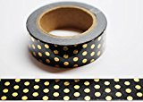 wolga-kreativ Washi Tape Tupfn gold/schwarz Masking Tape Dekoband