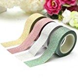 5M Glitter Washi Papierband Scrapbook Dekorieren Papierklebeband