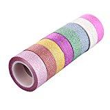 kakaxi (TM) Glitter Washi Tape Kollektion für Dekoration und Basteln (8Stück)