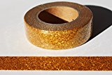 wolga-kreativ Washi Tape Glitzer Gold orange Masking Tape Dekoband