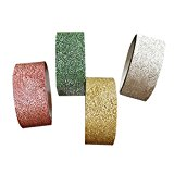 missley 5 m 4 Farben Glitter Washi Sticky Papier Masker Klebeband Label DIY Craft Decor