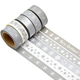 K-LIMIT 5er Set Washi Tape Dekoband Masking Tape Klebeband Scrapbooking Weihnachten DIY Christmas 8778