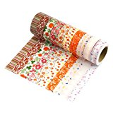 Très Chic Mailanda 10er Set Washi Tape Dekobänder Decorative Adhesive