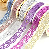MarswayÃ'® Luxury 3 Rolls Random Colors Bling Glitter Washi Tape Masking DIY Scrapbooking Decorating Bud Silk Staionery Stickers by Marsway