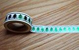 wolga-kreativ Washi Tape Weihnachten Tannenbaum Masking Tape Dekoband