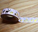 wolga-kreativ Washi Tape Weihnachten Reh gold Masking Tape Dekoband