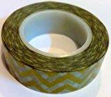 Metallic Gold Chevron Japanese Washi Tape - *15mm x 15M* - TWILIGHT PARTIES by Twilight Parties