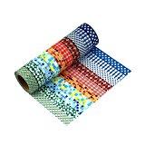 Washi Tape 10er Set Dekobänder Klebeband Masking Tape Reispapier - Très Chic Mailanda