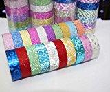 3M 10 Farben Glitter Washi Sticky Papier Masking Klebeband-Aufkleber DIY Fertigkeit-Dekor