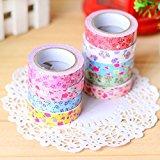 1PCS Farbe Blume Tuch Klebeband Aufkleber Deco sticker-random für verkaufen