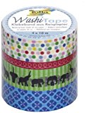 Folia 26404 Washi Tape Happy Birthday, 4-er Set