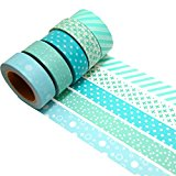 K-LIMIT 5er Set Washi Tape Dekoband Masking Tape Klebeband 9692