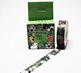 wolga-kreativ Washi Tape in Box Katzen Kawaii Masking Tape Dekoband