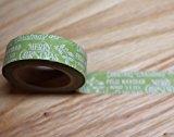 wolga-kreativ Washi Tape Weihnachten Merry Christmas Masking Tape Dekoband