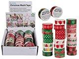 Deko Klebeband Weihnachten (1 Box = 24 Stück) Christmas Washi Tape / Masking Tape
