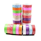 Estone 5pcs 15mm Wide Dots Decor Washi Paper Tape DIY Making Sticker by Estone