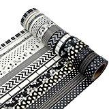 AUFODARA Washi Tape Dekoband 5er Set - Größe je Rolle 15 mm x 10 m