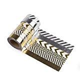 Jumbo-Set Washi Tapes, Gold und Silber, 6 x 10m, 60 Meter Washi-Tape