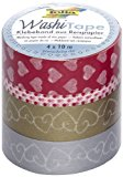 Folia 26407 Washi Tape Liebe, 4-er Set