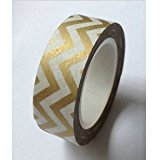 Love My Tapes Washi Tape 15mmX10m-Metallic Gold Chevron by Love My Tapes