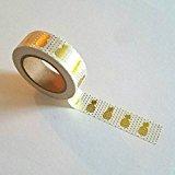 1Rolle von Gold Folie Washi Tape Süße Ananas 15mm x 10m