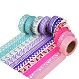 Mudder Washi Tape Klebeband Dekoband Masking Tape für Scrapbooking Kunsthandwerk Büro Party Supplies und Geschenkverpackung, 10 Set