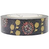 SEAL-DO Sunflower Washi Tape Metallic, Made in Japan by SEAL-DO