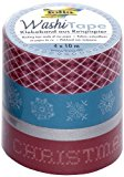 Folia 26409 Washi Tape Weihnachten Retro, 4-er Set
