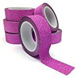 Angel Malone 1x 15mm Vibrant magenta-pink Glitter Washi Tape Deco Abdeckband. Großartig für alle Ihre Handwerk: Grußkarten, Scrapbooks, Annähen, für Hochzeiten und viel