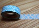 wolga-kreativ Washi Tape Weihnachten Schneeflocke türkis Masking Tape Dekoband