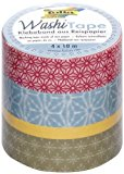 Folia 26403 Washi Tape Japanflair, 4-er Set