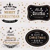 Cremefarbenes Weihnachts mt Washi Klebeband mit Merry Christmas Nachricht