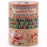 Weihnachts mt Masking Tape Klebeband 3er Set Weihnachtsmann Weihnachtsparty