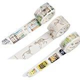 Florals Washi Papier Masker Tape Kollektion für Scrapbooking DIY-Geschenk Notebook Decor 3Stück