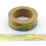 Rainbow & Gold Folie Washi Tape 15 mm X 10 m